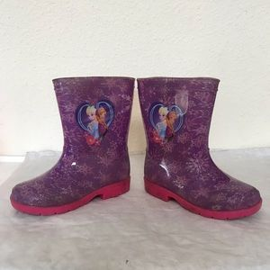 Disney Frozen Elisa Anne Purple Rain Boot Size 9
